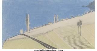 77062: Wayne Thiebaud (b. 1920) Untitled- Landscape, 19