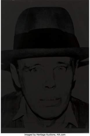 77050: Andy Warhol (1928-1987) Joseph Beuys, 1980 The c