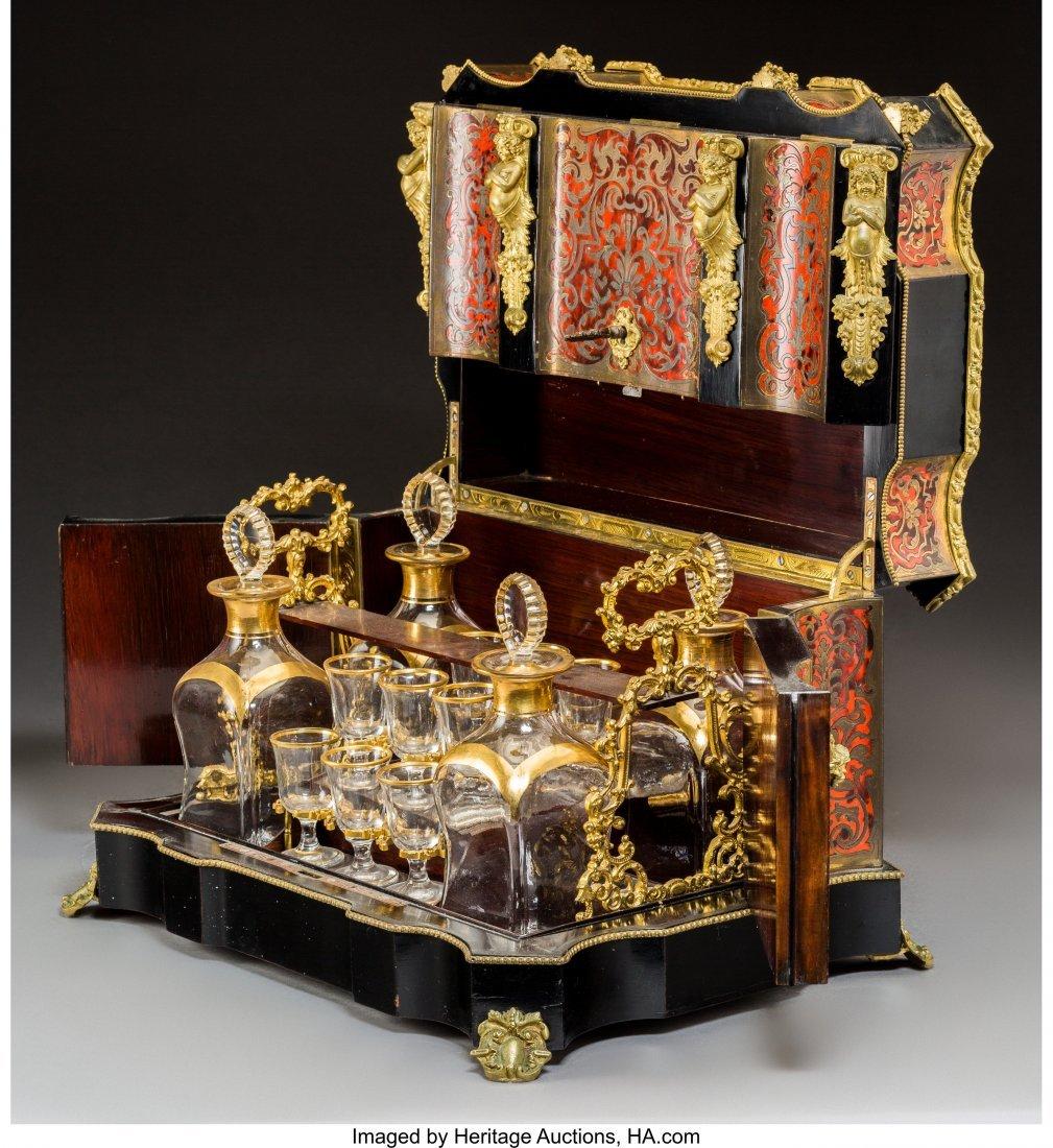 61003: A Napoleon III Boulle, Ebonized Wood, and Gilt G