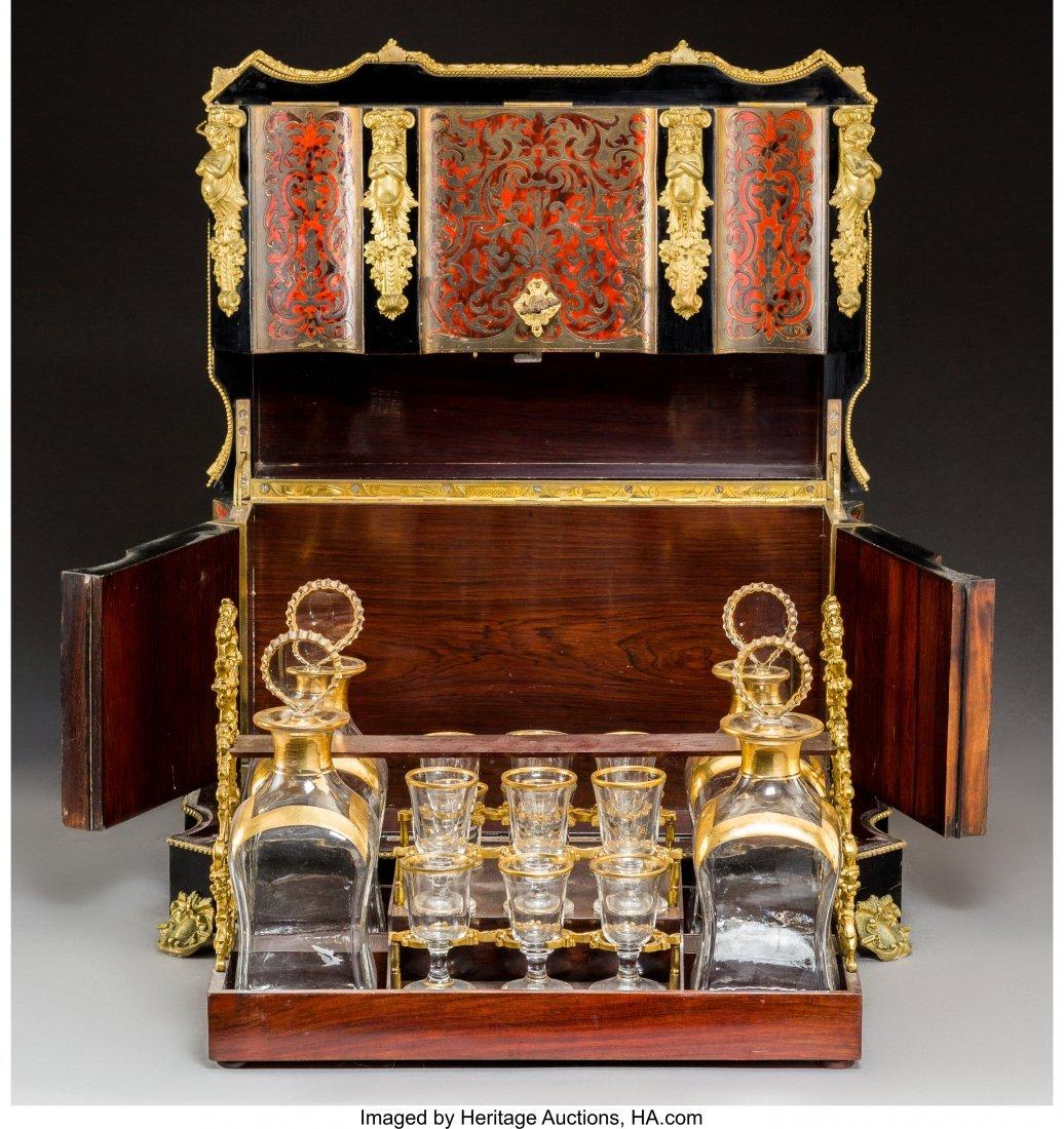 61003: A Napoleon III Boulle, Ebonized Wood, and Gilt G - 3