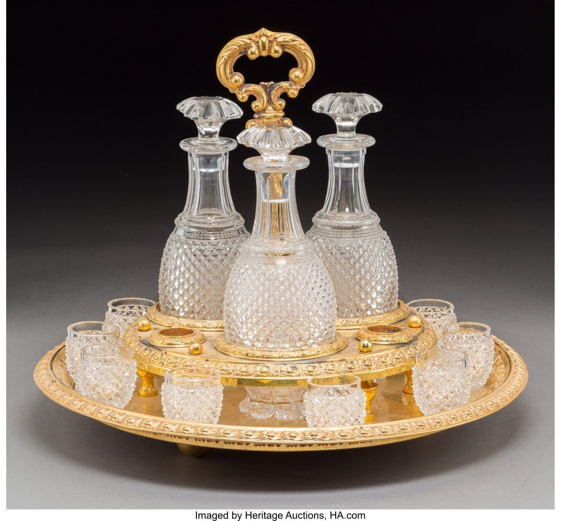 61009: A Fourteen-Piece Baccarat-Style Cut-Glass and Gi - 2