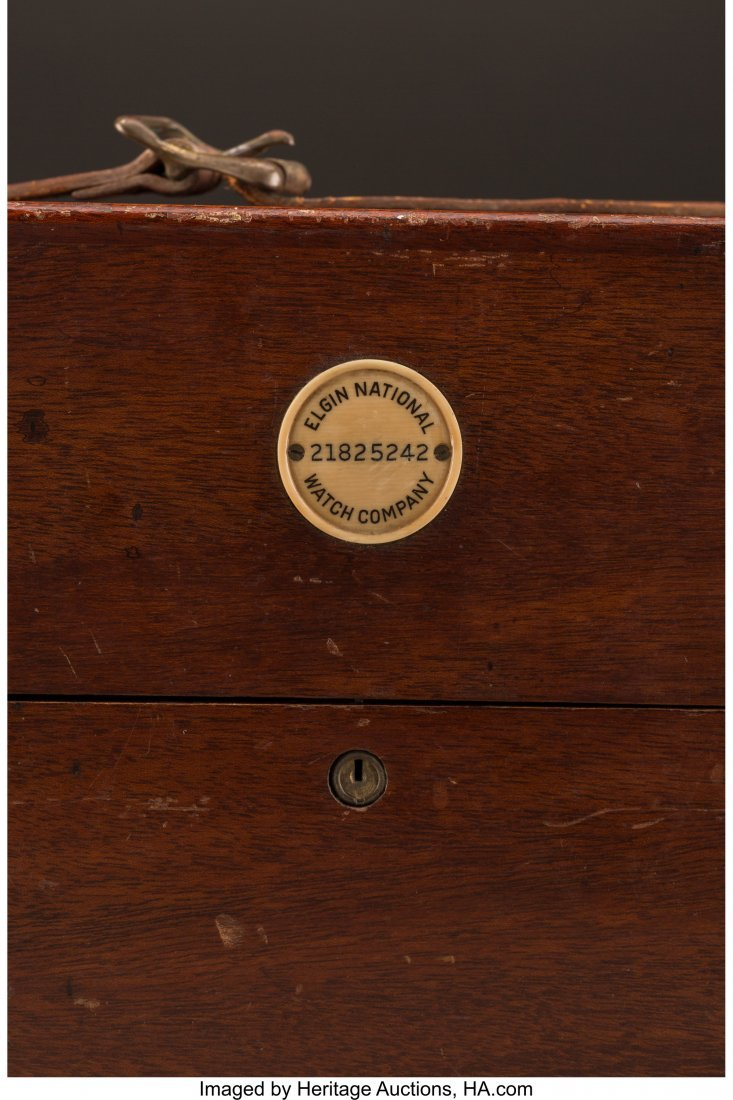 61012: An Elgin Double-Cased Ship's Chronometer Watch,  - 4