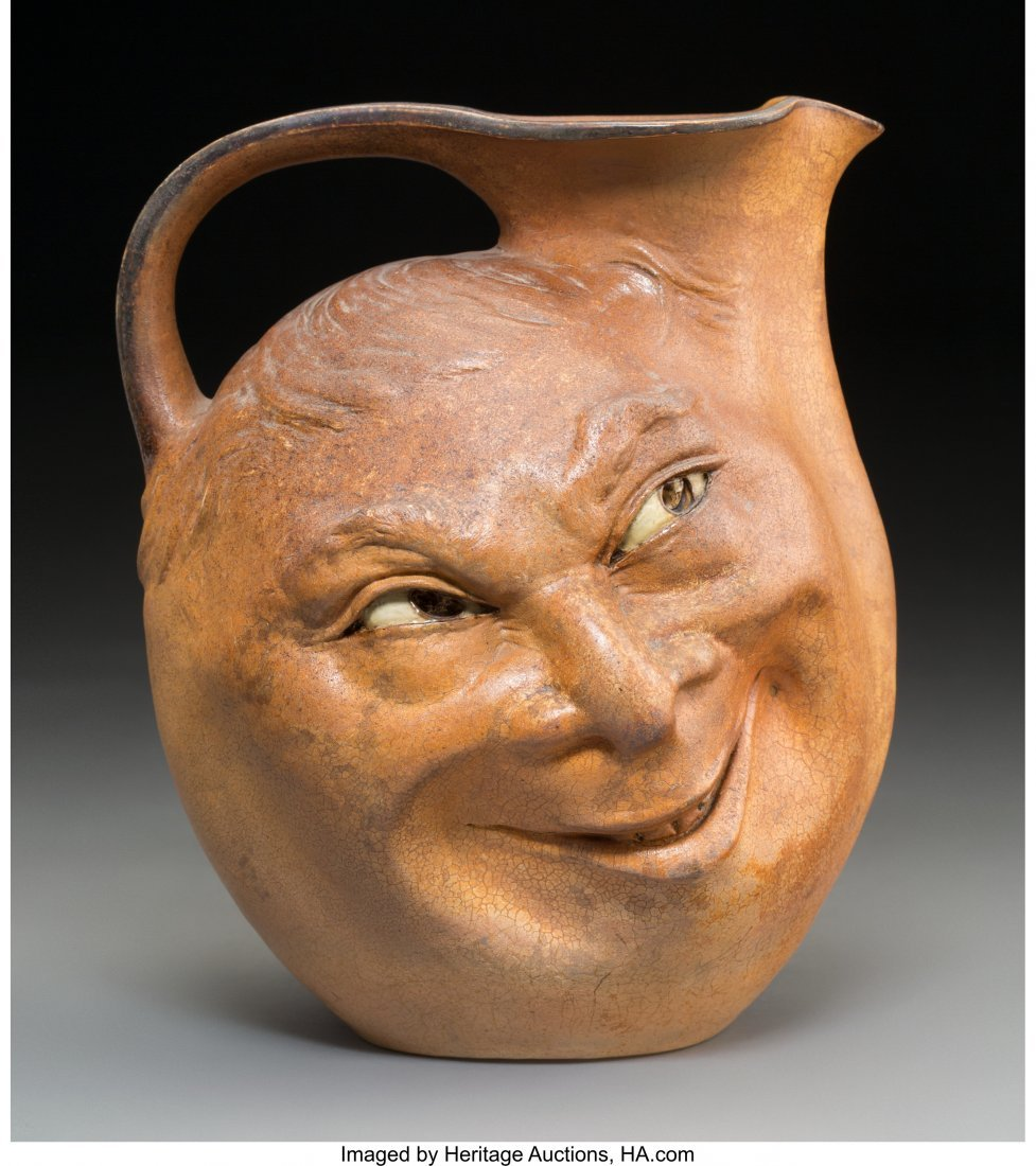 61118: A Large Martin Brothers Stoneware Double-Sided F