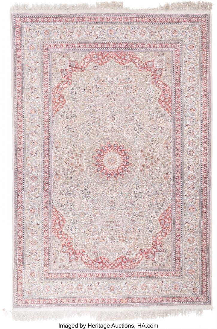 61124: A Kayseri Silk Carpet 9 feet 8 inches long x 6 f - 2