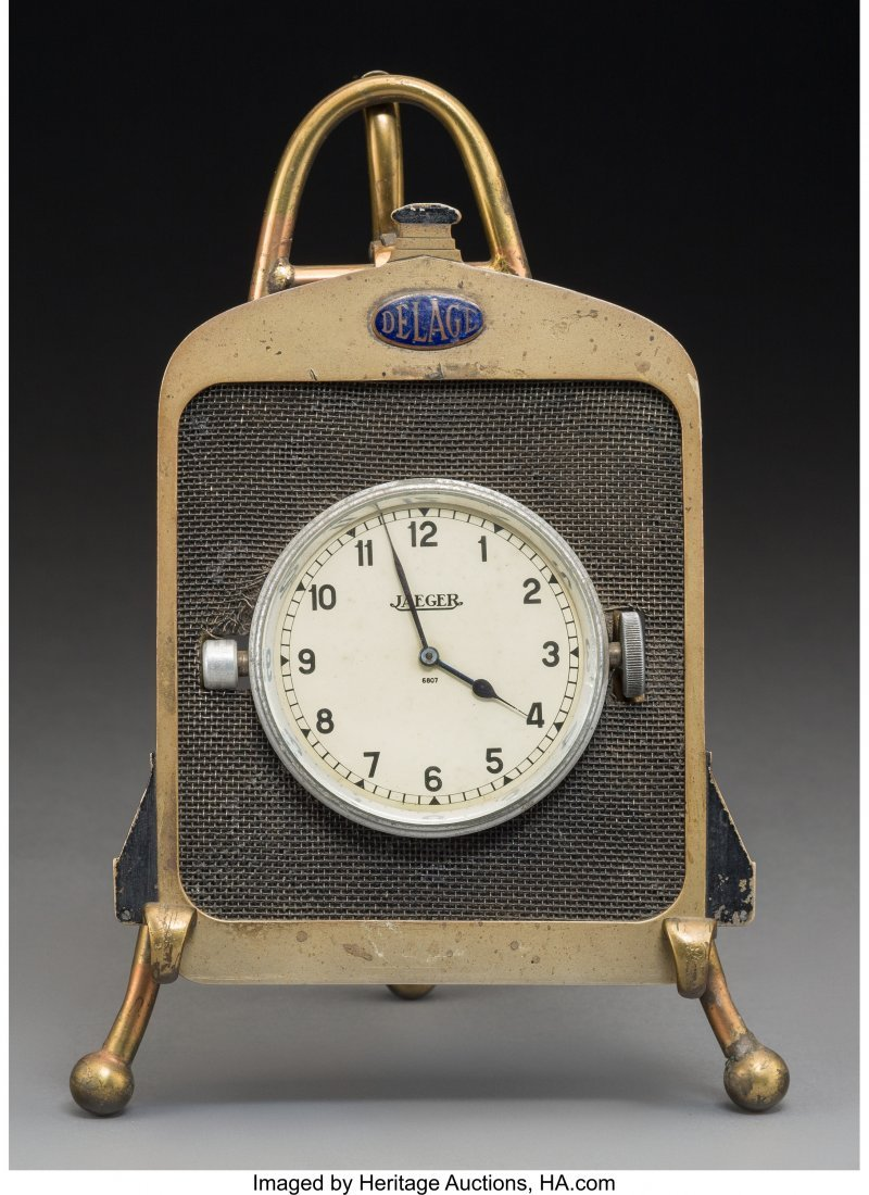 61040: A Delage and Jaeger Early Automobile Radiator-Fo