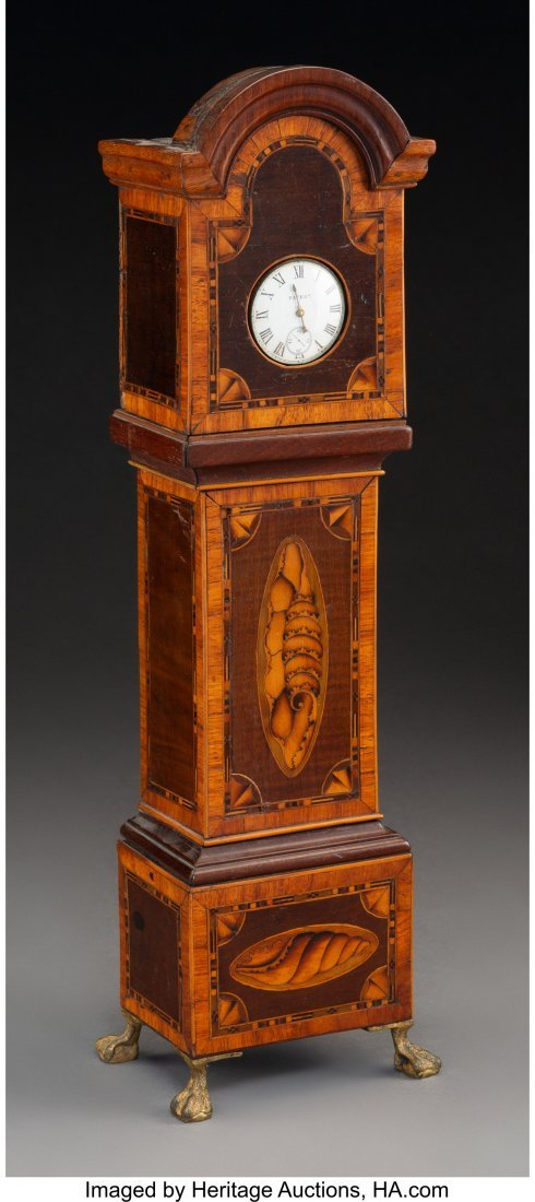 61138: A Miniature George III-Style Mahogany and Satinw