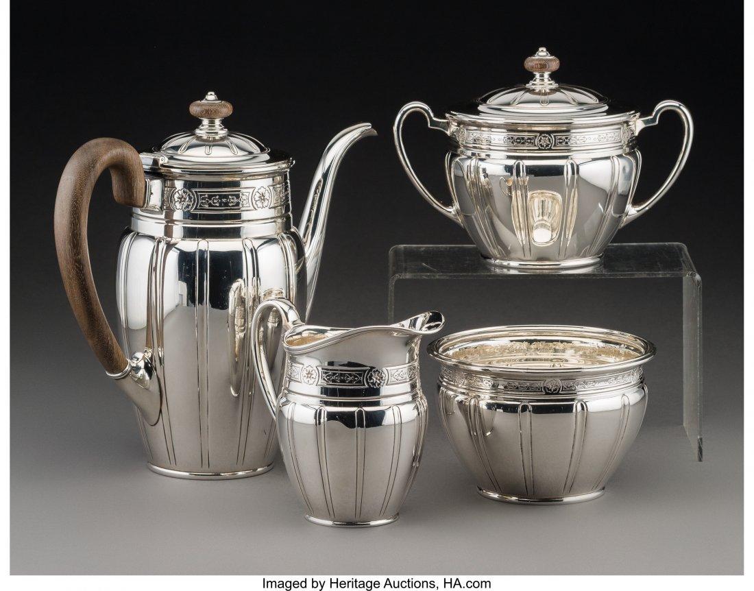 61290: A Four-Piece Tiffany & Co. Art Deco Silver Coffe