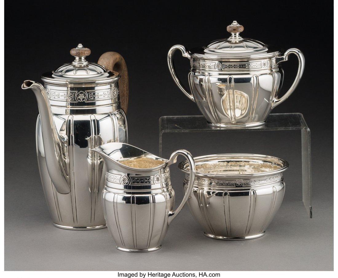 61290: A Four-Piece Tiffany & Co. Art Deco Silver Coffe - 2