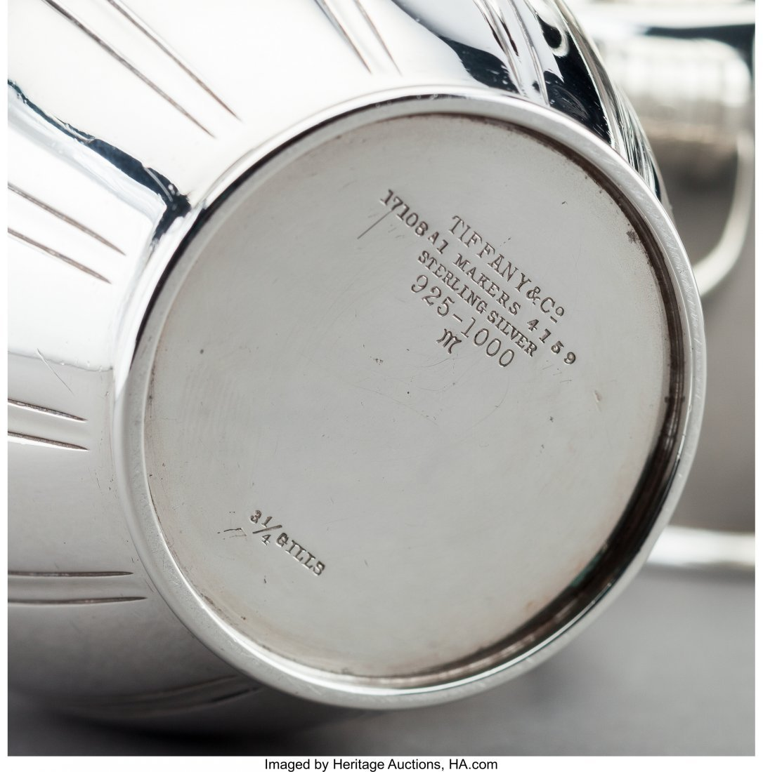 61290: A Four-Piece Tiffany & Co. Art Deco Silver Coffe - 3