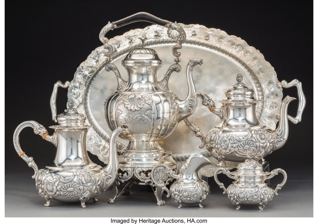 61298: A Four-Piece German Silver Tea and Coffee Servic - 2