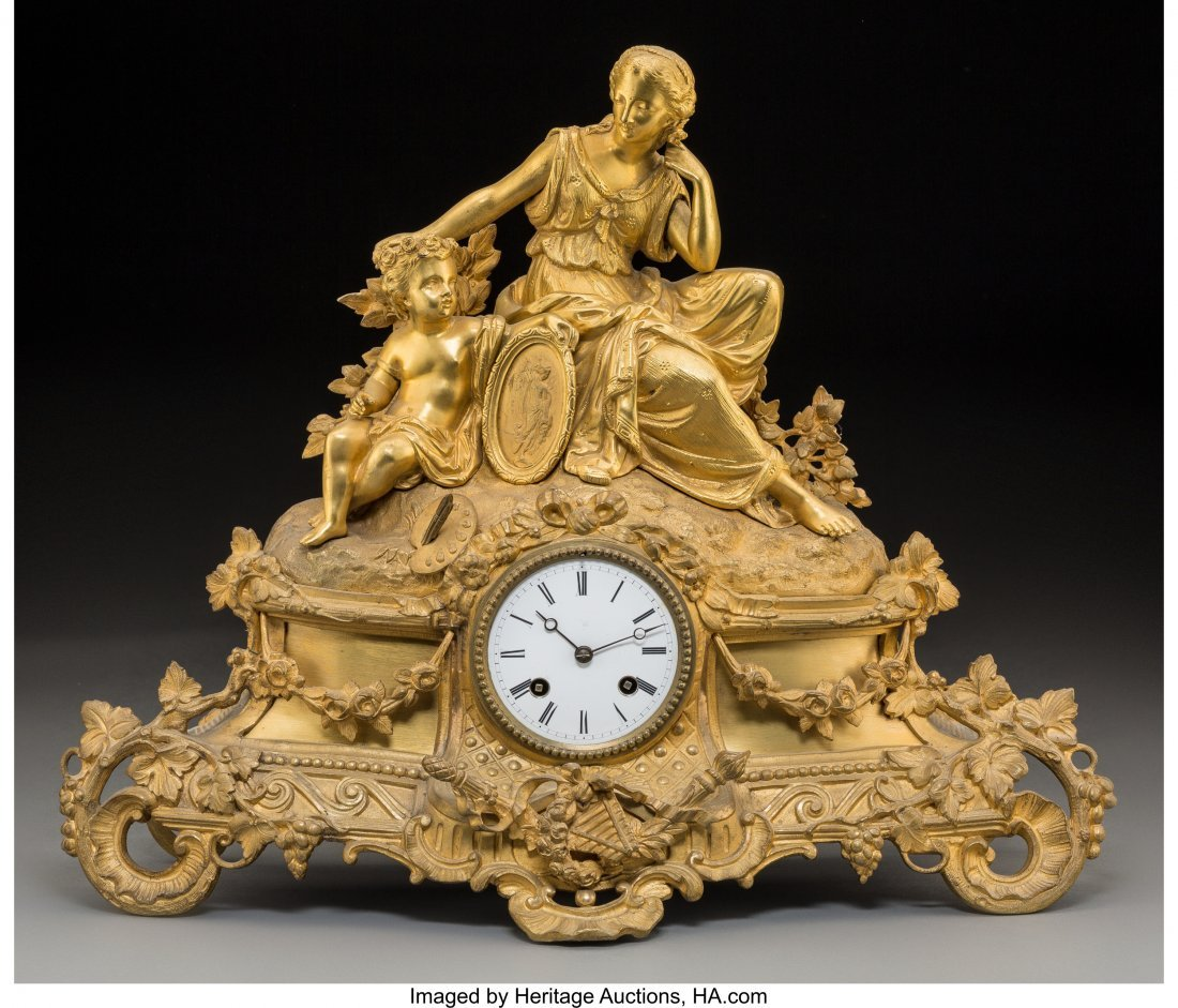 61458: An Alliez & Berguer Louis XVI-Style Gilt Bronze