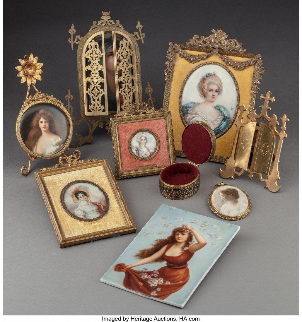 61540: Nine Various Porcelain Cabinet Portrait Plaques  - 2