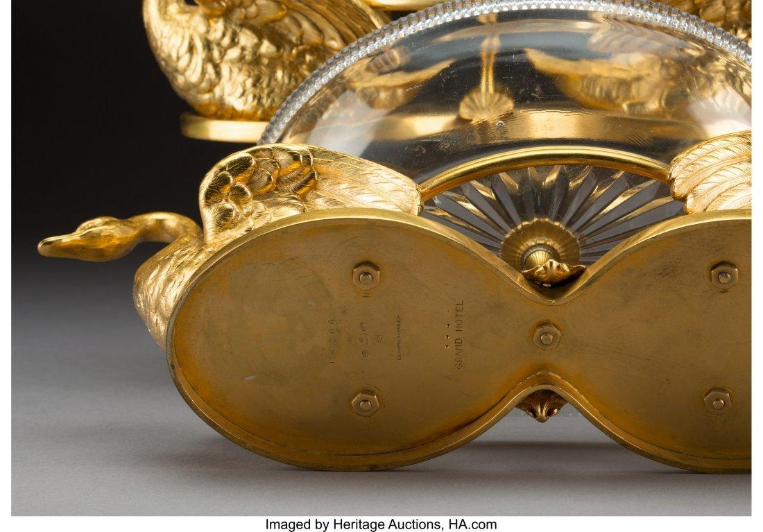 61621: A Pair of Elkington Cut-Glass and Gilt Bronze Sw - 3