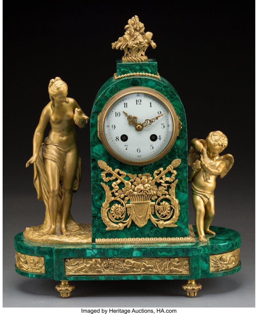 61466: A Louis XVI-Style Malachite and Gilt Bronze Tomb