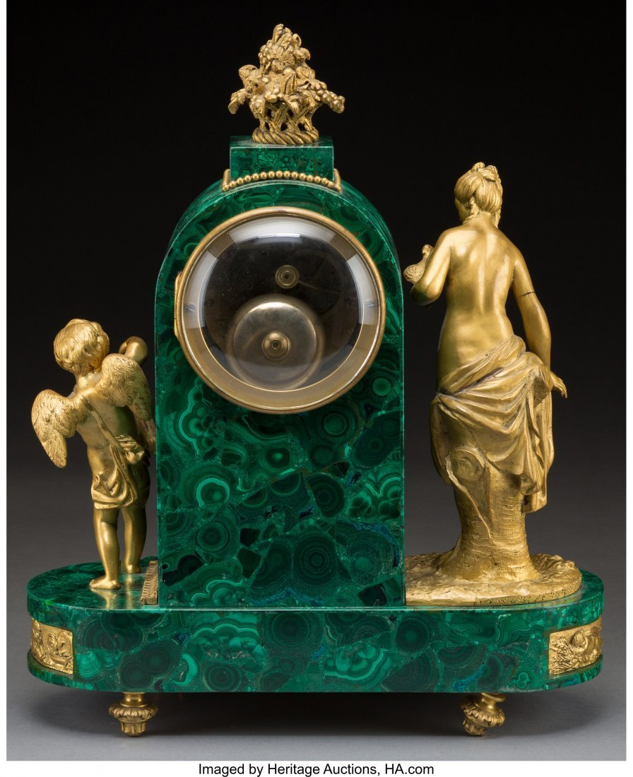 61466: A Louis XVI-Style Malachite and Gilt Bronze Tomb - 2
