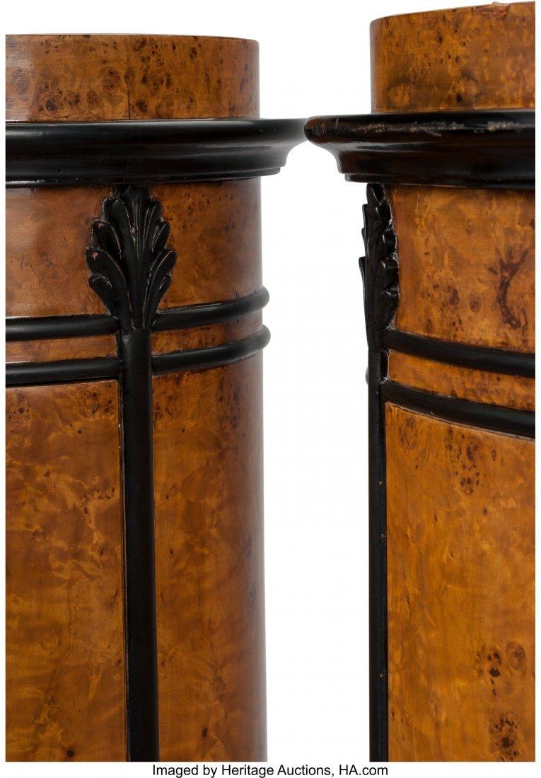 61412: A Pair of Biedermeier-Style Burlwood and Ebonize - 2