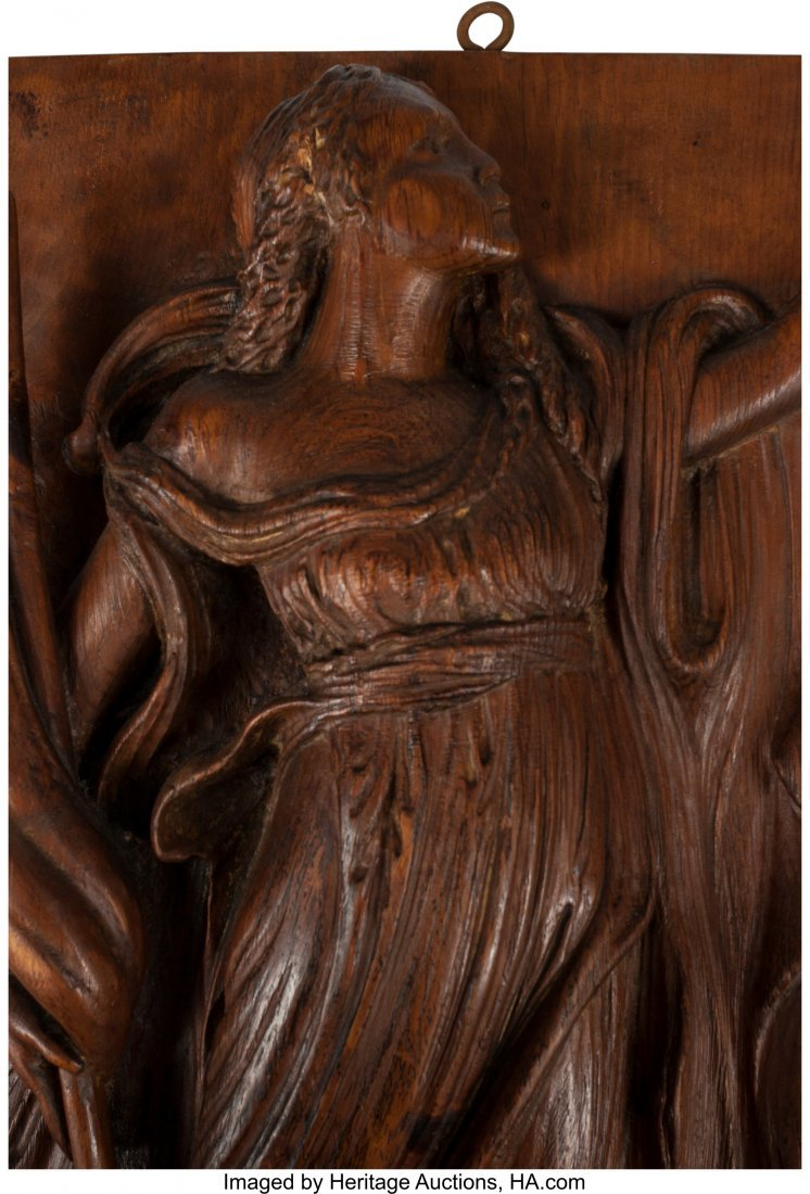 61500: A Pair of Venetian-Style Carved Oak Panels with  - 2