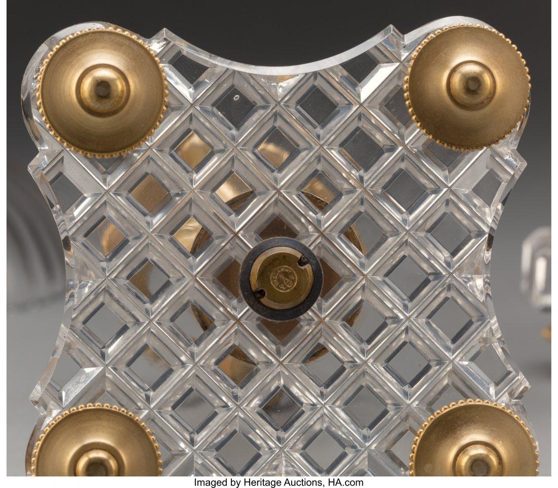 61352: A Three-Piece Baccarat Gilt Bronze and Cut-Glass - 3