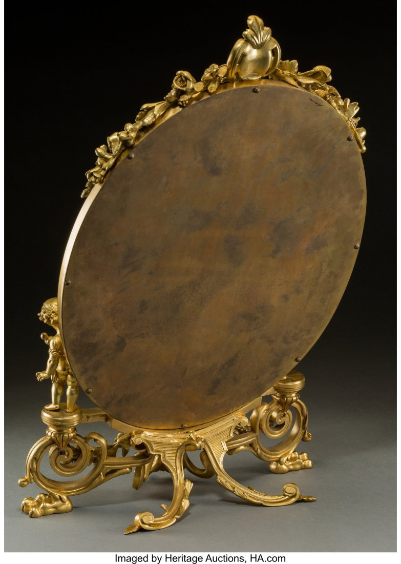 61357: A Fine French Gilt Bronze and Champleve Figural  - 2