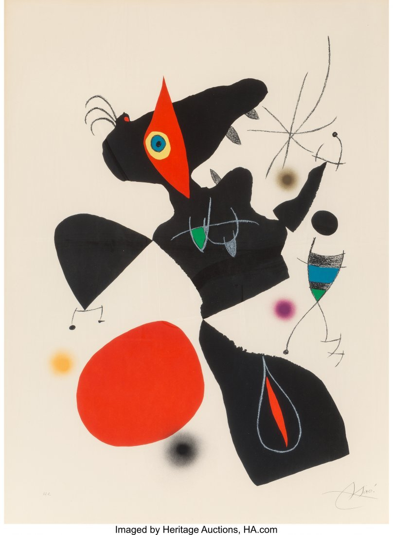 61660: Joan Miró (Spanish, 1893-1983) Plate IV, from O