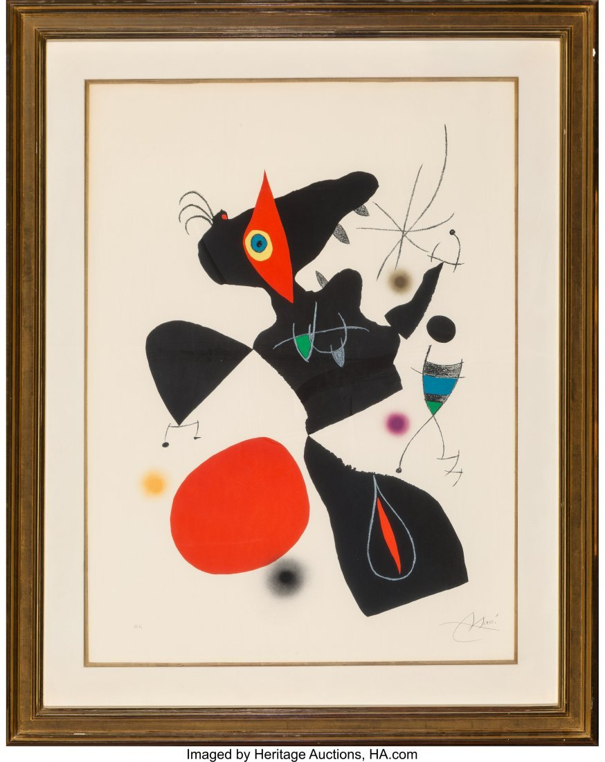61660: Joan Miró (Spanish, 1893-1983) Plate IV, from O - 2