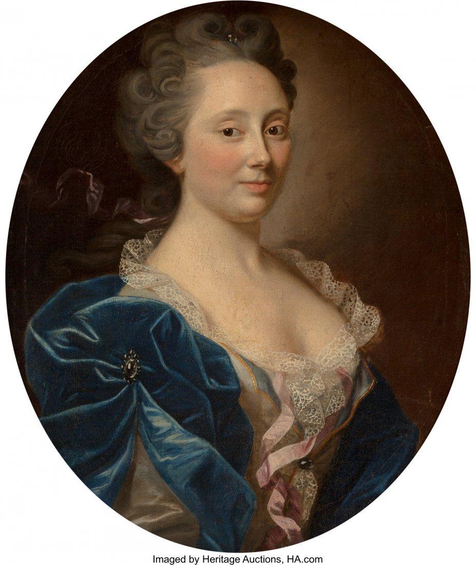 61363: French School (19th Century) Portrait of Lady, B