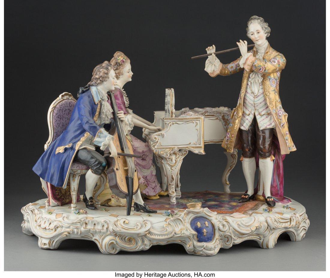 61451: A Large Aelteste Volkstedter Dresden Porcelain F