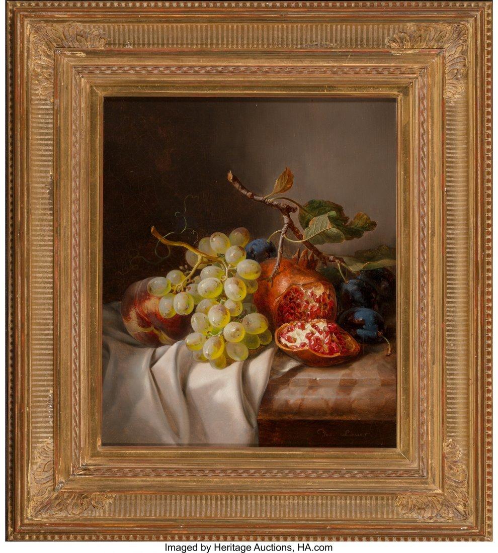 61368: Josef Lauer (German, 1818-1881) Still Life with  - 2