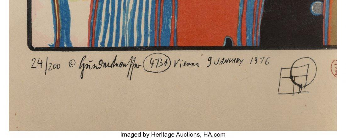 61704: Friedensreich Hundertwasser (1928-2000) Two Clou - 3