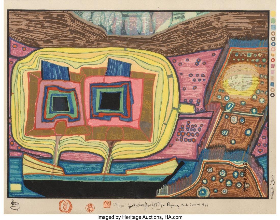 61705: Friedensreich Hundertwasser (Austrian, 1928-2000