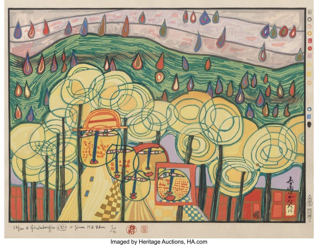 61708: Friedensreich Hundertwasser (Austrian, 1928-2000