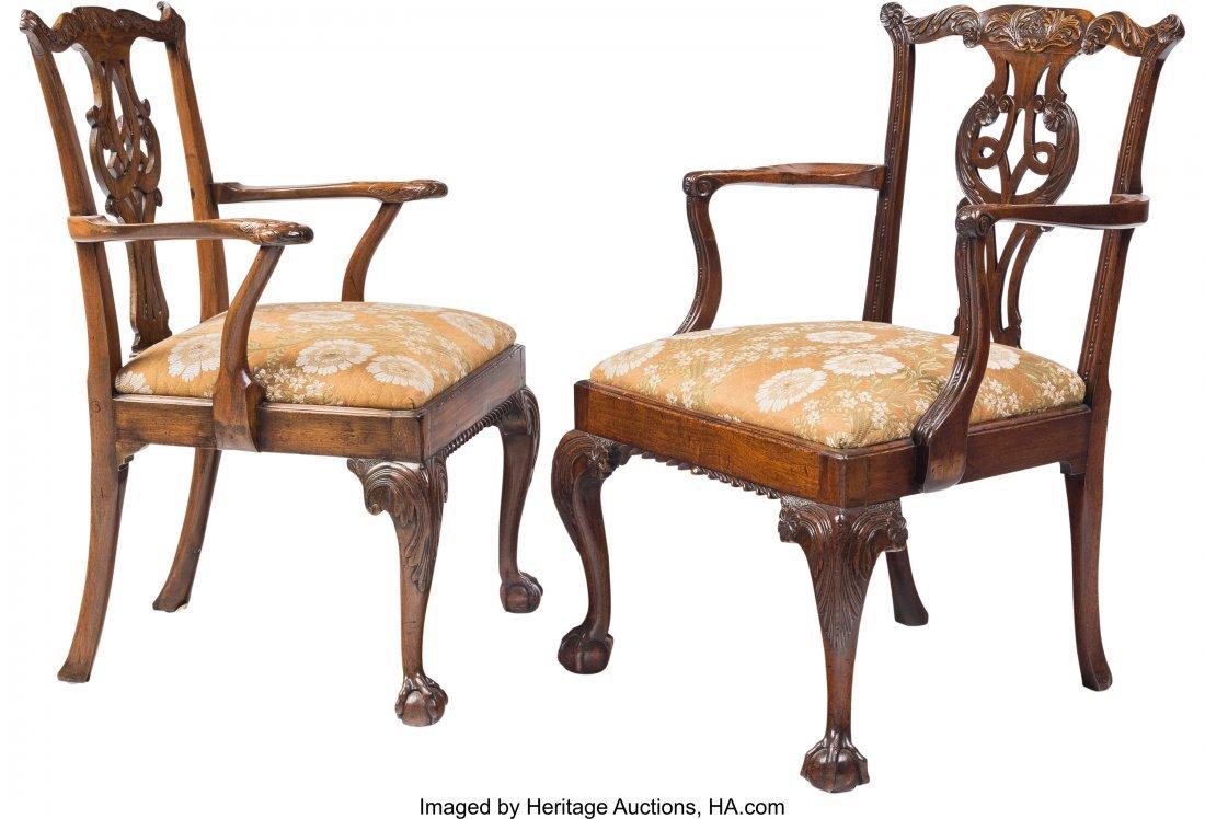 61607: Twelve George III Mahogany Dining Chairs, 18th c - 3