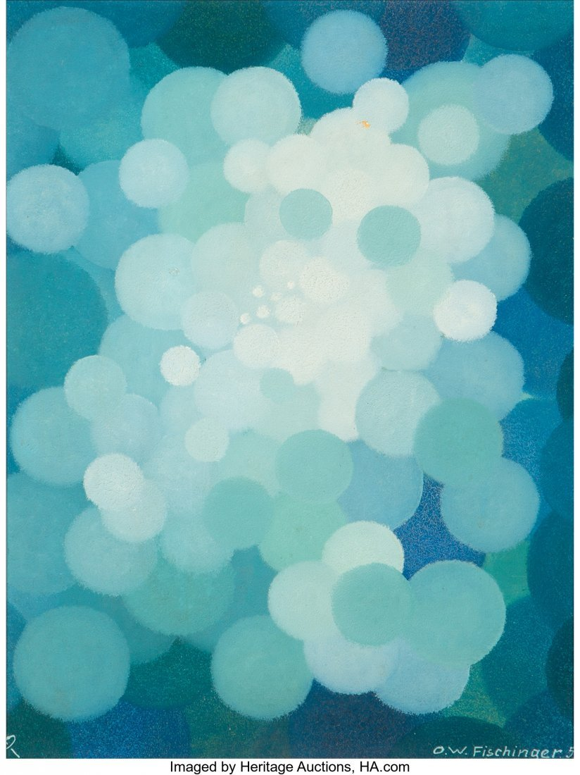 61687: Oskar Fischinger (German, 1900-1967) Blue Cluste