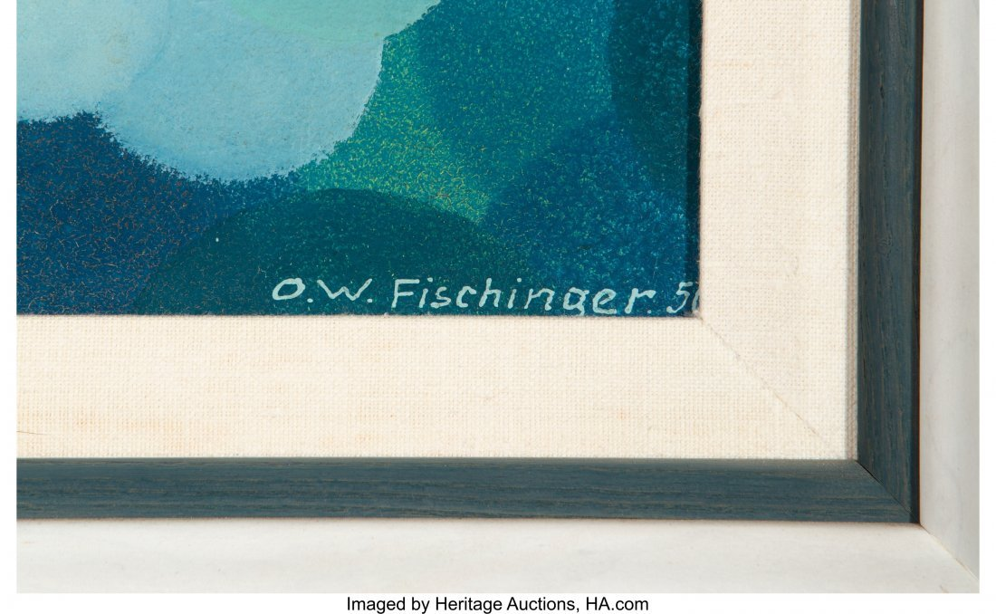 61687: Oskar Fischinger (German, 1900-1967) Blue Cluste - 2