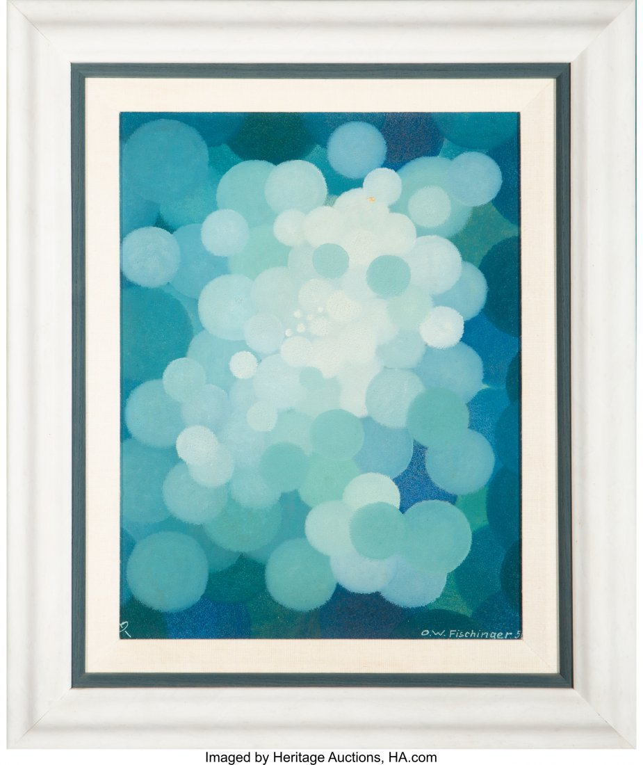 61687: Oskar Fischinger (German, 1900-1967) Blue Cluste - 3