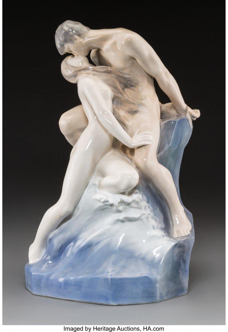 61719: A Large Royal Copenhagen Porcelain Figural Group