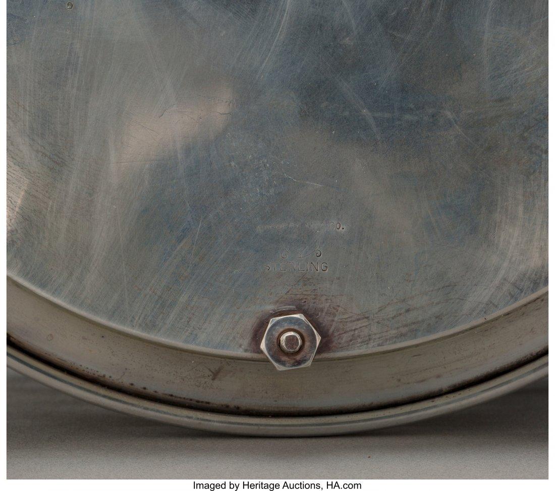 61805: A Norbert Mfg. Co. Judaica Silver Oil Menorah Di - 3