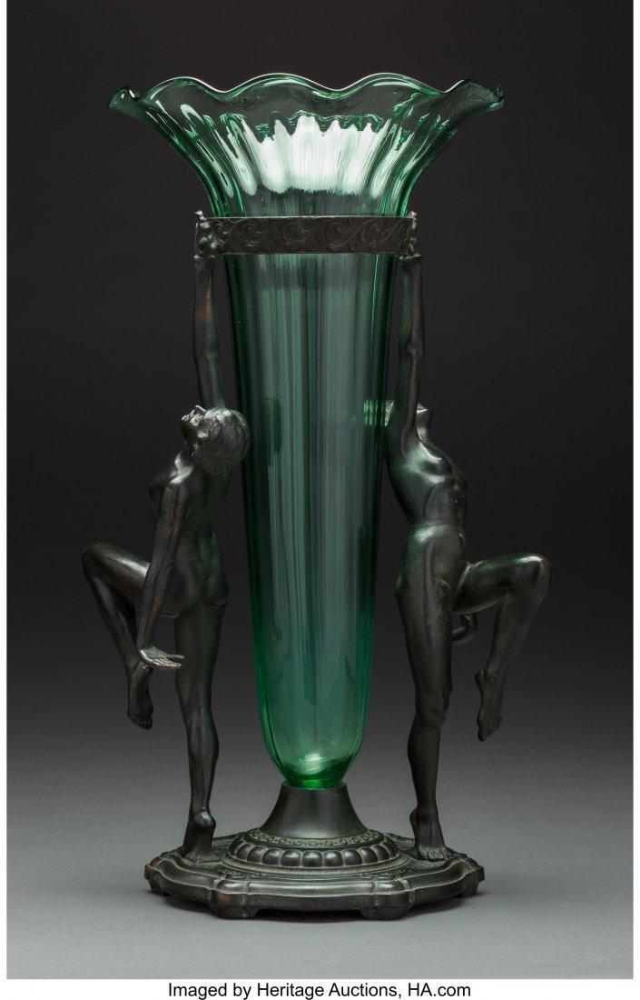 61721: An A.C.R. Emberger Art Deco Double Nude Centerpi