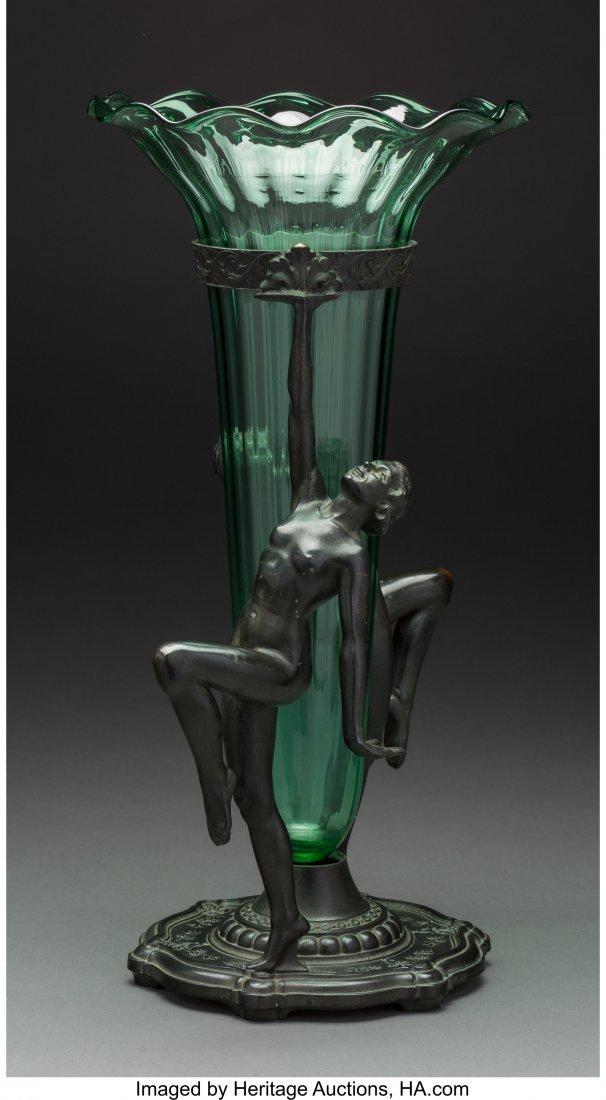 61721: An A.C.R. Emberger Art Deco Double Nude Centerpi - 2
