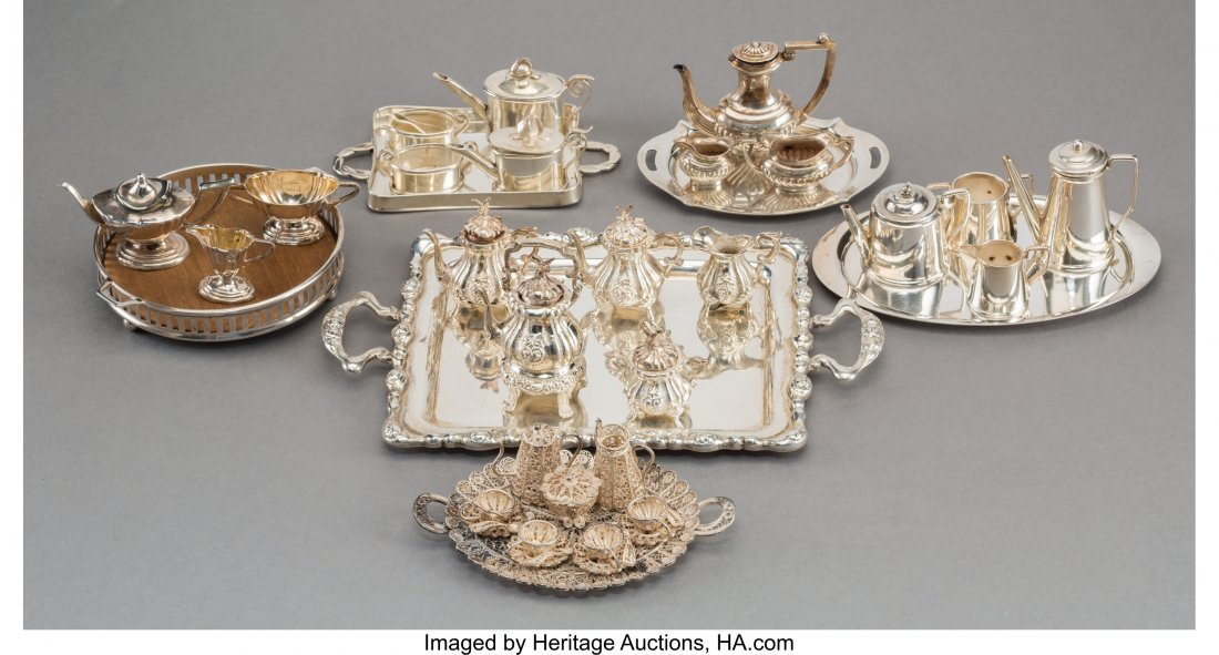 61900: A Thirty-Three Piece Group of Miniature Silver T