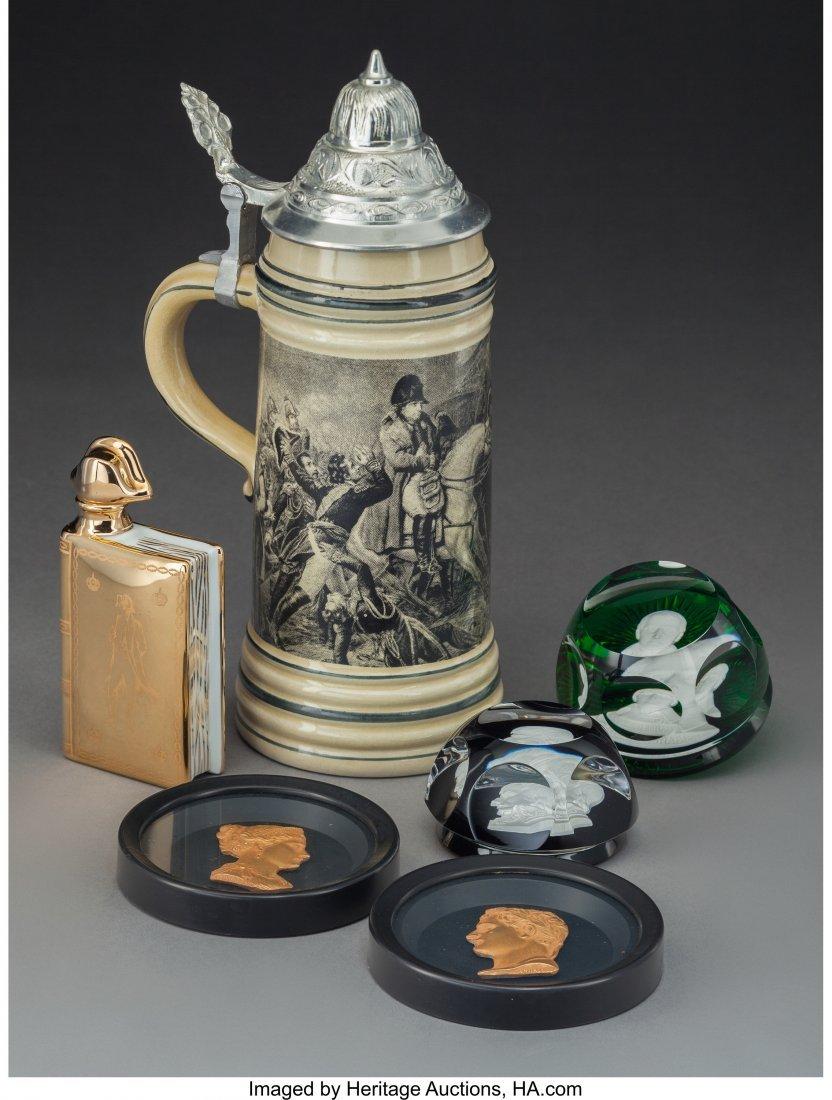 61910: Six Napoleonic Tablewares Including Baccarat Sul