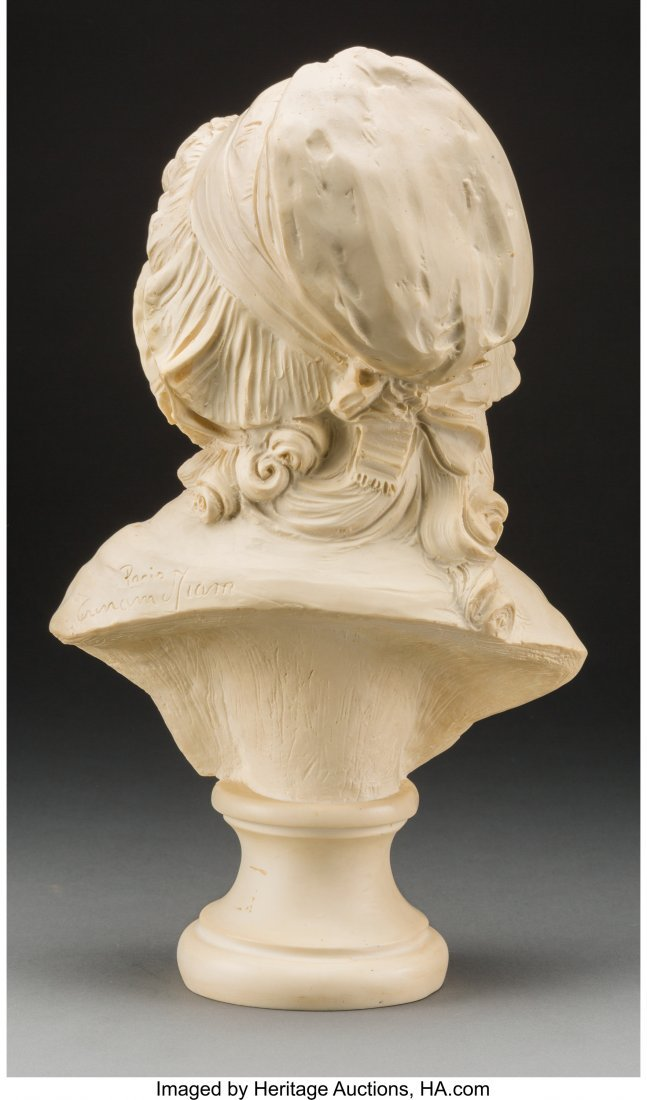 61738: A Carved Composite Bust of a Young French Girl,  - 3