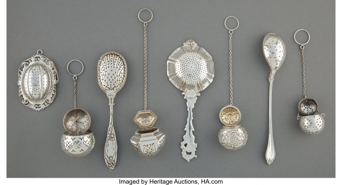 61836: Eight Silver and Silver-Plated Tea-Related Wares - 2