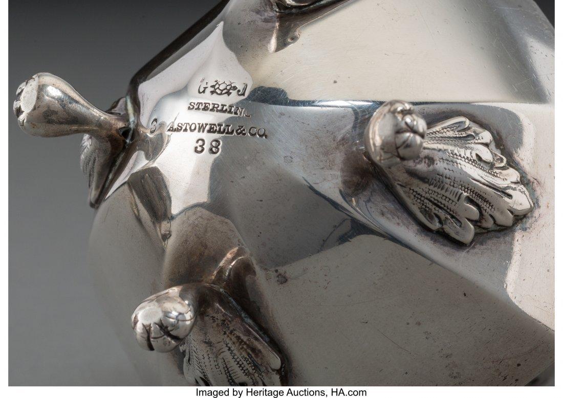 61837: A Goodnow & Jenks Silver Tea Caddy with a Pair o - 3