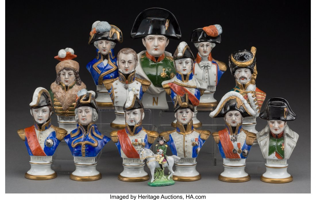 61925: Fourteen Scheibe-Alsbach Napoleonic Porcelain Mi