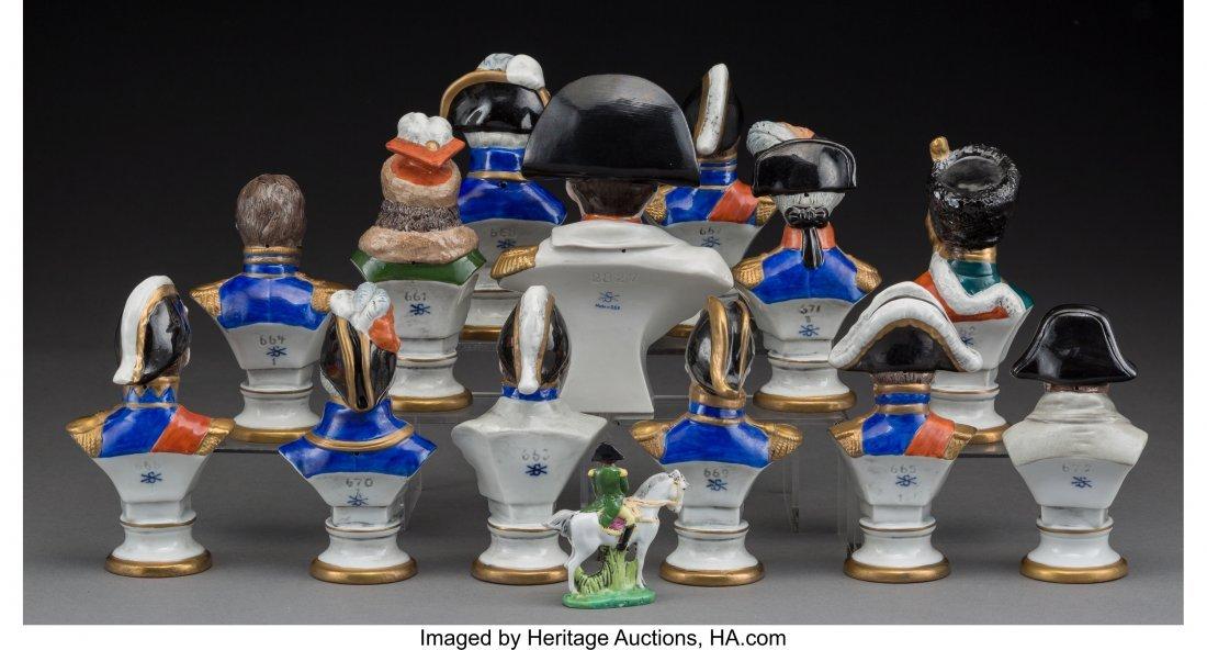 61925: Fourteen Scheibe-Alsbach Napoleonic Porcelain Mi - 2