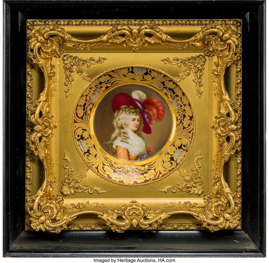 61741: A Royal Vienna-Style Porcelain Portrait Plate in