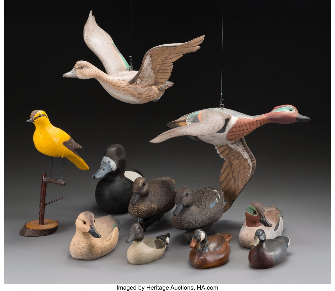 61934: Eleven Various American Duck and Goose Decoys, l