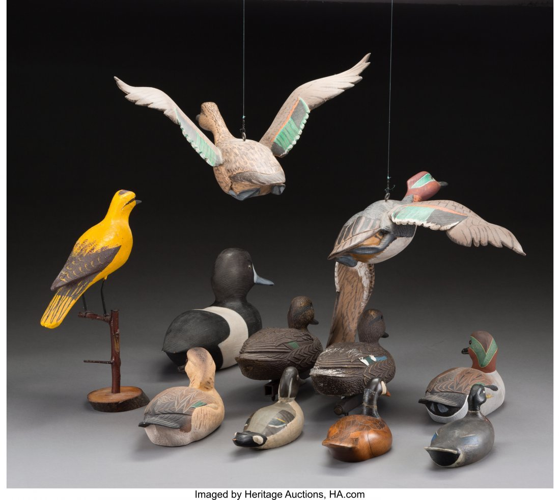 61934: Eleven Various American Duck and Goose Decoys, l - 2