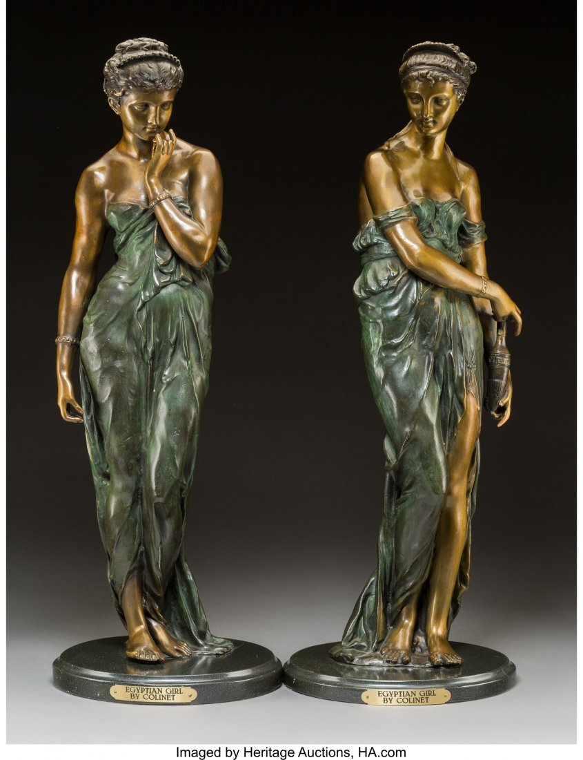 61751: Two Cold-Painted Bronze Figures After Claire Col